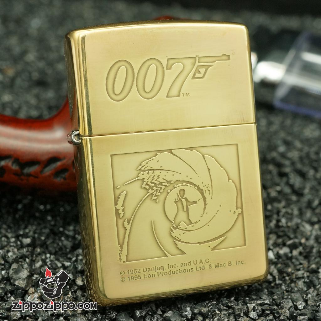 zippo cổ 007 đồng nguyên chất sản xuất năm 1996