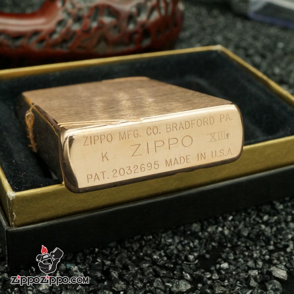 zippo cổ Rose Vitage vàng hồng 1997
