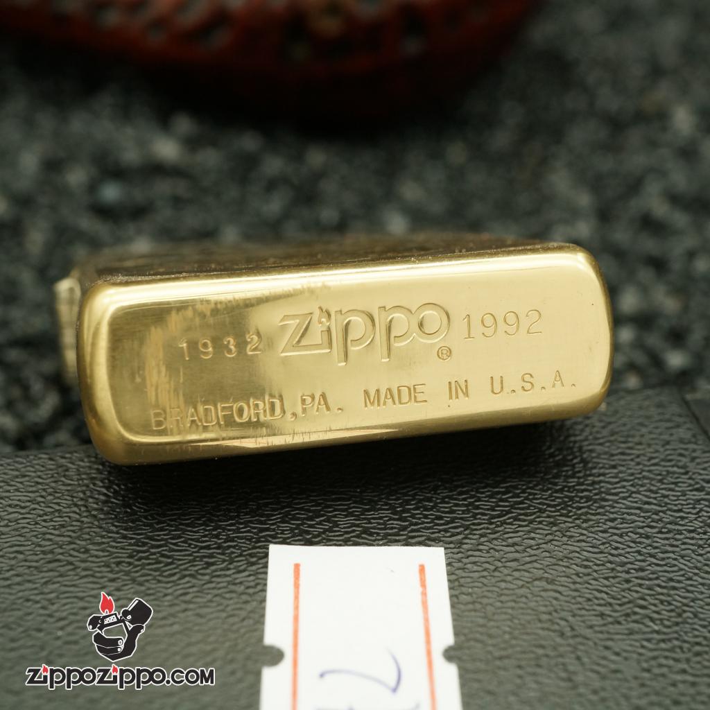 zippo cổ 60th chất liệu đồng 1932 - 1992
