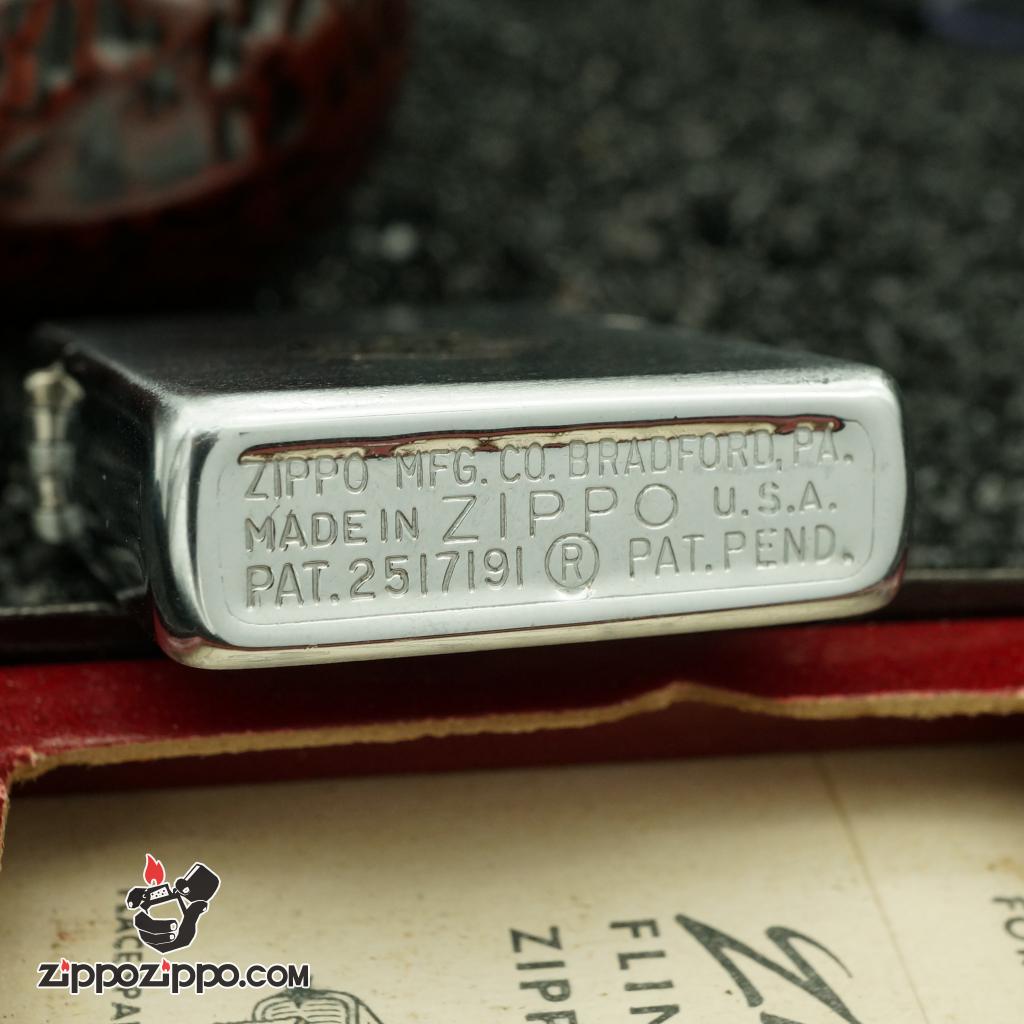 zippo cổ mầu bạc G:E sản xuất năm 1952