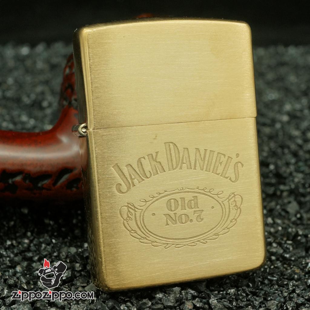 Zippo cổ Jack Daniel's đồng nguyênchất bản chu niên 1992