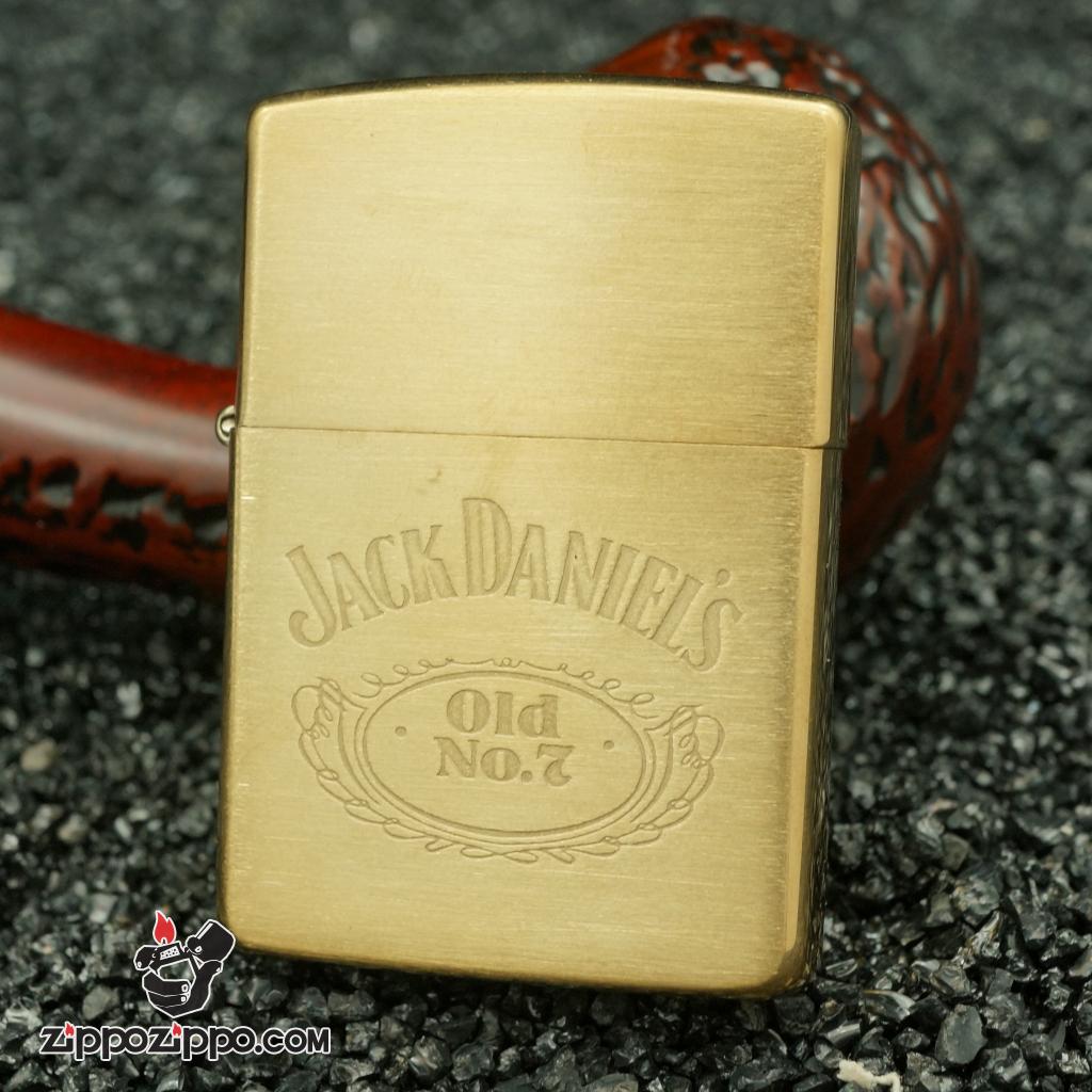 Zippo cổ Jack Daniel's đồng nguyên chất sản xuất năm 1993