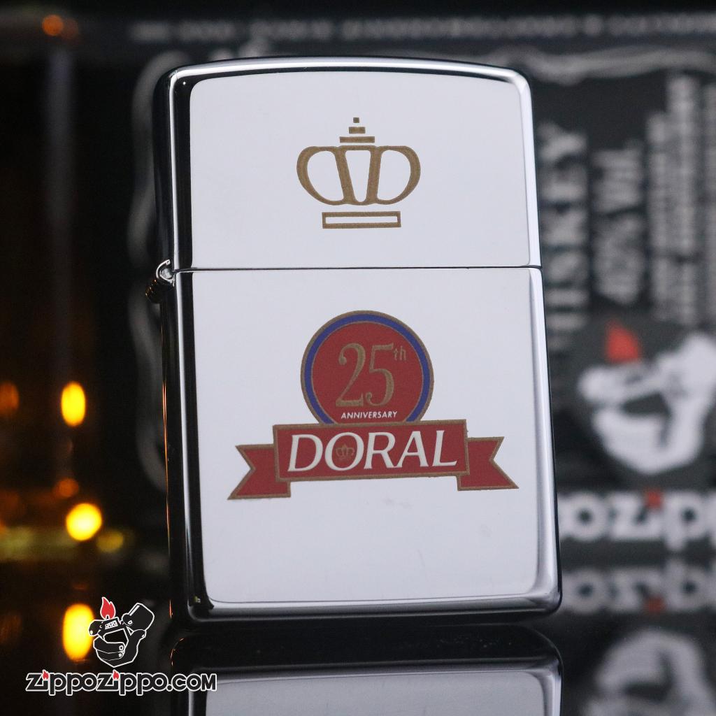 Zippo đời la mã sản xuất 1995 dora 25th anniversary