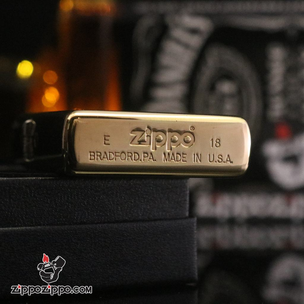 Bật lửa Zippo chính hãng Jazz đồng bản bóng