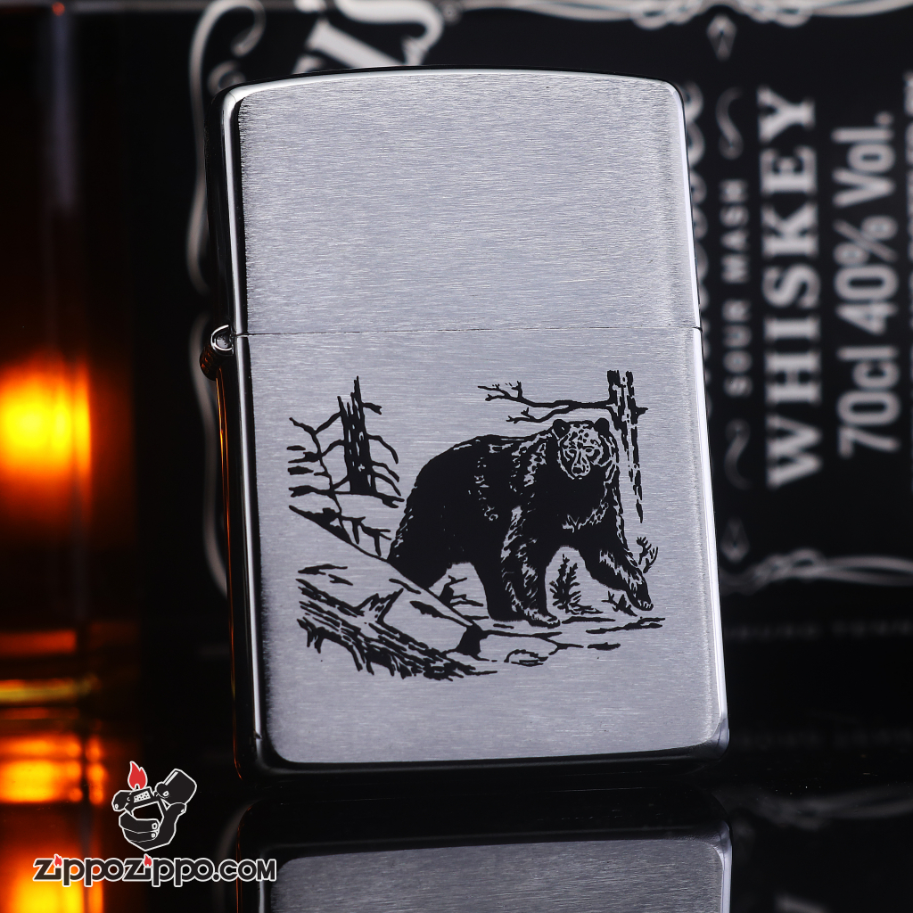 Zippo đời la mã sản xuất 1995 con gấu