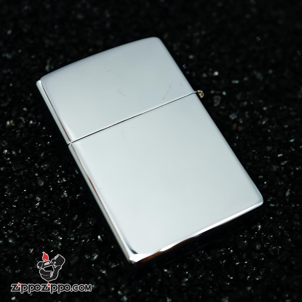 Zippo đời la mã sx 2000 Chrome bạc bóng