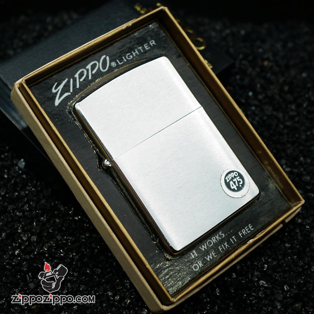 Zippo cổ sản xuất 1978 Chrome bạc vân xước