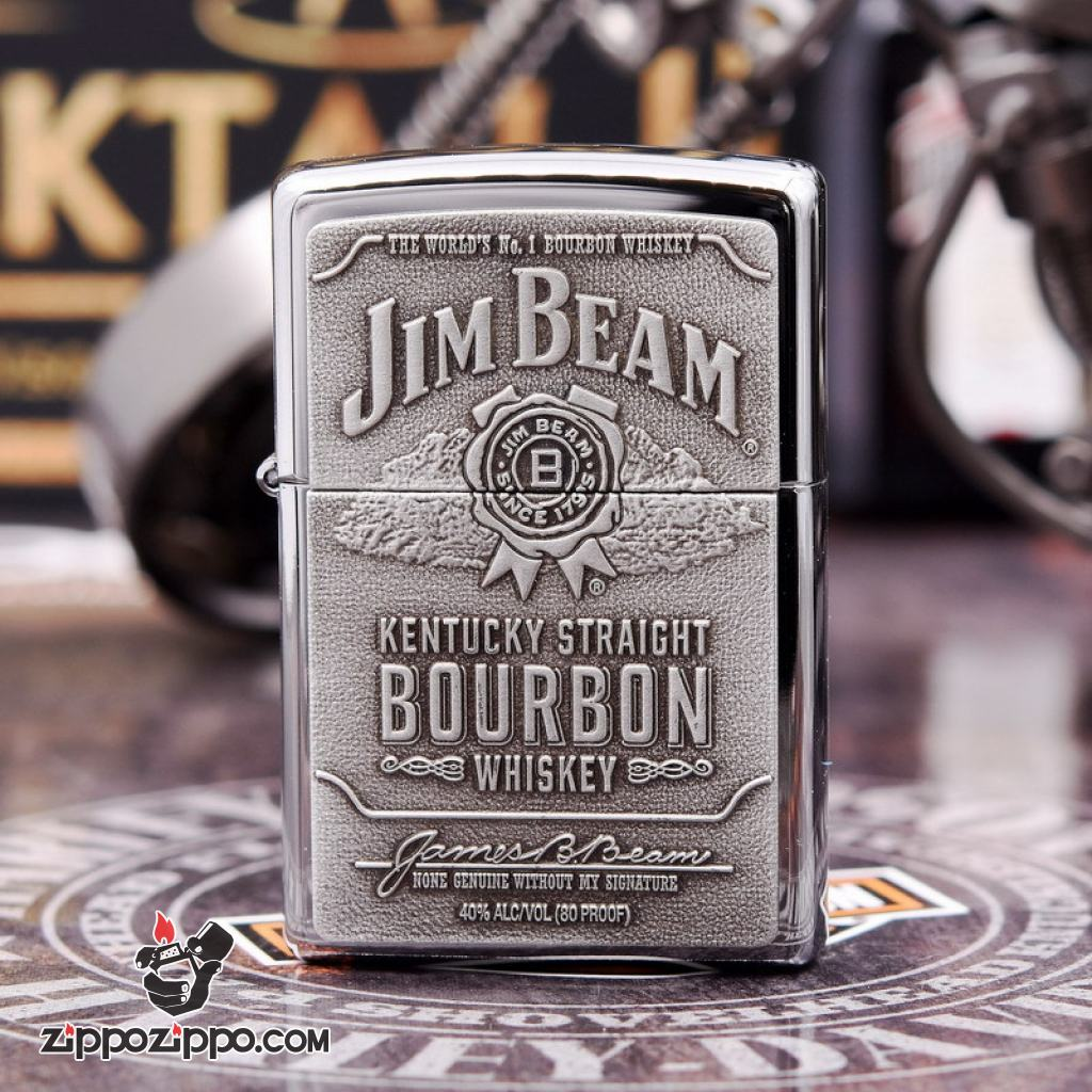 Bật lửa zippo chính hãng nhãn hiệu Jim Beam