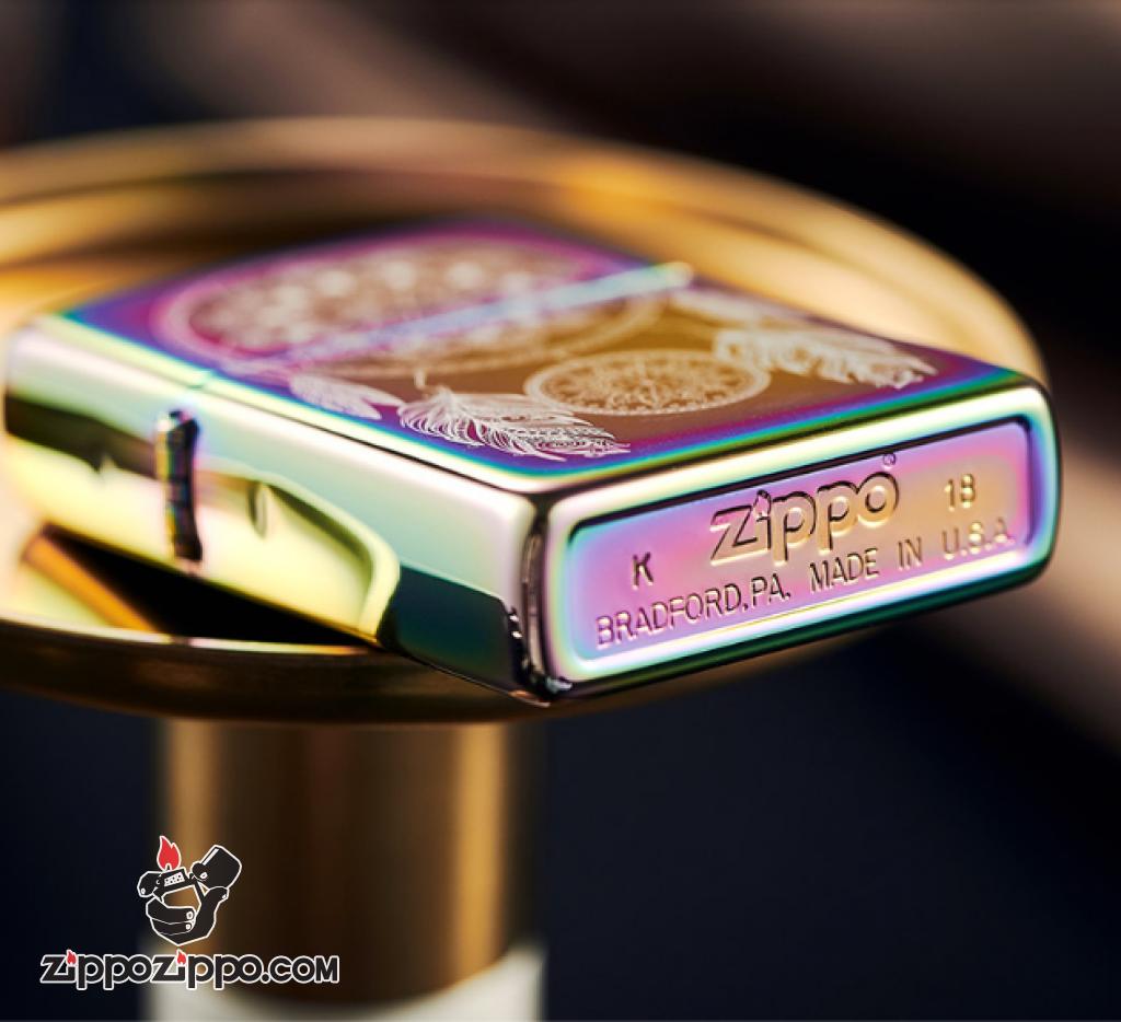 ZIPPO bảy sắc cầu vồng khắc Dream Catcher