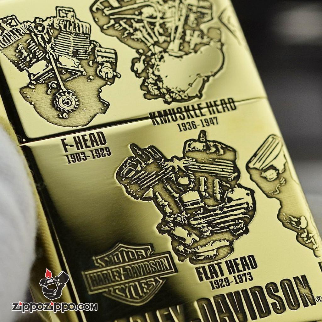 Zippo Chính Hãng đồng khối  Phiên Bản Động Cơ Harley Davidson amor