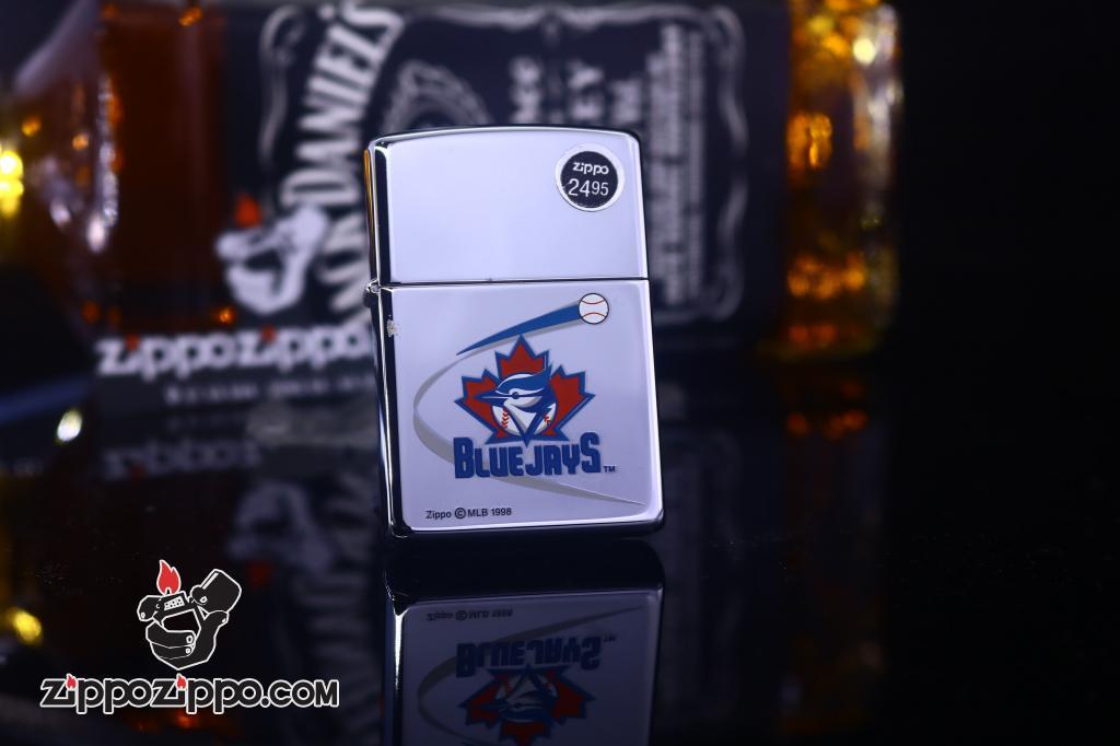 Zippo Cổ bạc bóng biểu tượng Bluejays 1998