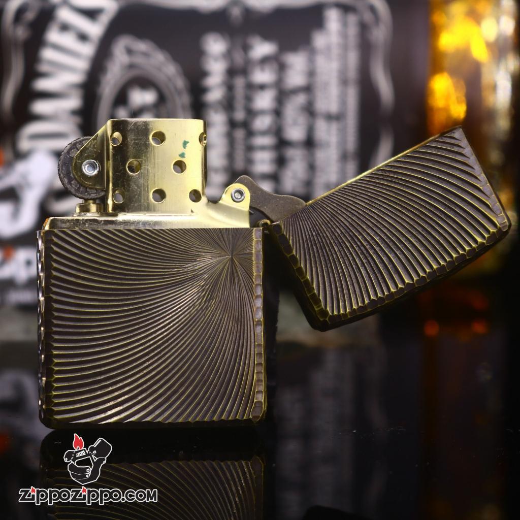 Zippo chính hãng khắc không gian 3 chiều Mạ Vàng bản Amor Ver 3