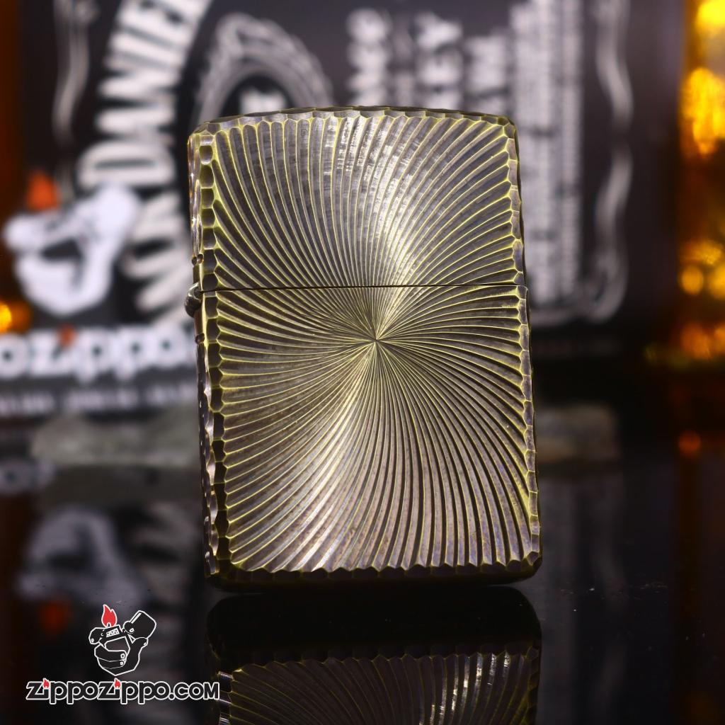 Genuine Zippo 3-dimensional engraving of Gold Plating Amor Ver 11
