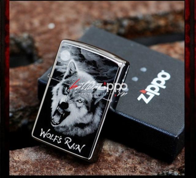 Bật lửa zippo chính hãng 150PT họa tiết sói đêm Garnett