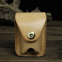 Bao da Handmade đựng zippo và thuốc lá Màu Da - Mã SP: ZPC2654-D