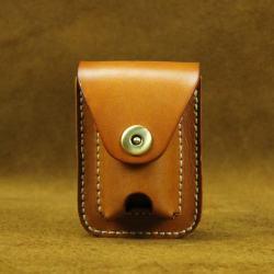 Bao da Handmade đựng zippo và thuốc lá - Mã SP: ZPC2654-A