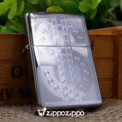 bật lửa mầu bạc khắc hình usd - Mã SP: ZPC1460