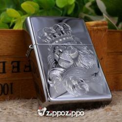 bật lửa mầu bạc khắc sư tử - Mã SP: ZPC1457