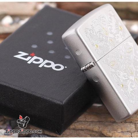 Bật Lửa  Zippo 28457 Mờ Hoa Văn Cổ Điển
