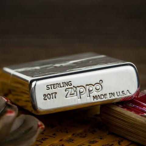 Bật Lửa Zippo Bạc Nguyên Khối Cao Cấp Khắc Cá Chép Trong Đầm Sen Phiên Bản 1941