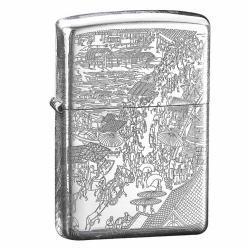 Bật lửa Zippo Bạc nguyên khối cao cấp khắc Hình Bức Tranh Cổ Bản Amor - Mã SP: ZPC2366