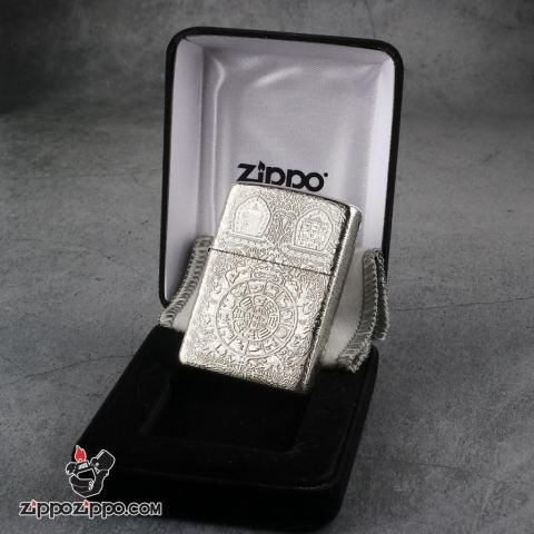 Bật Lửa Zippo Bạc Nguyên Khối Cao Cấp Khắc Kiếp Luân Hồi Vỏ Dầy Bản Armor
