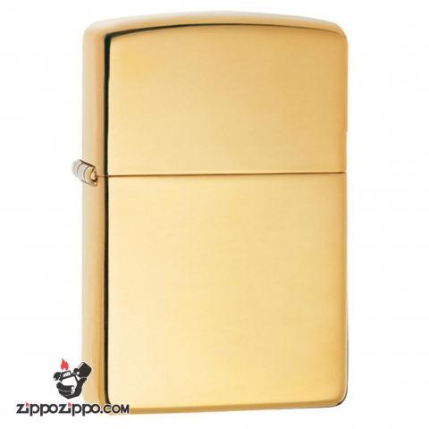 Bật lửa Zippo chính hãng 0169 Vàng đồng trơn