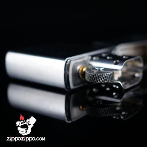 Bật lửa Zippo chính hãng 205 Bạc khắc trái tim tình yêu