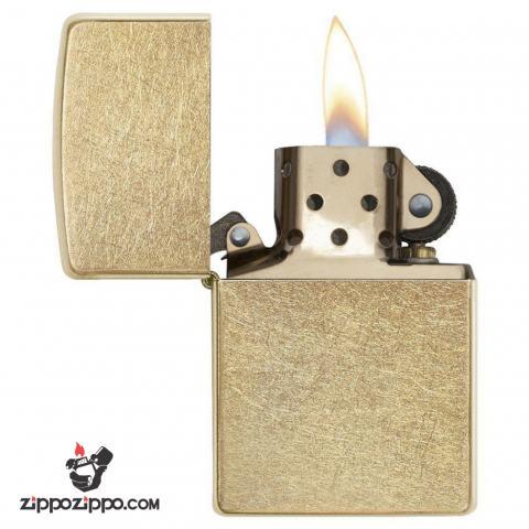 Bật lửa Zippo chính hãng 207G vàng xước