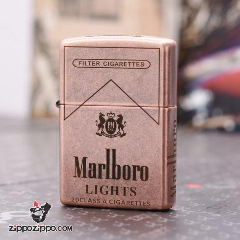 Bật Lửa Zippo CHính Hãng 301FB Khắc logo Marlboro