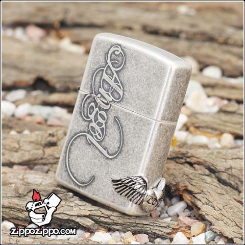 Bật lửa Zippo chính hãng bạc cổ Angel love
