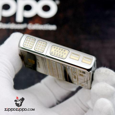 Bật lửa Zippo chính hãng bản chrome khắc WIN 10 và bán phím zippo