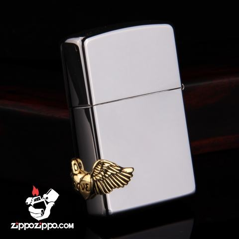 Bật lửa Zippo chính hãng black ice Love angel