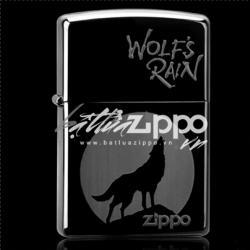 Bật lửa Zippo chính hãng đen Chó sói hú trong đêm - Mã SP: ZPC0214