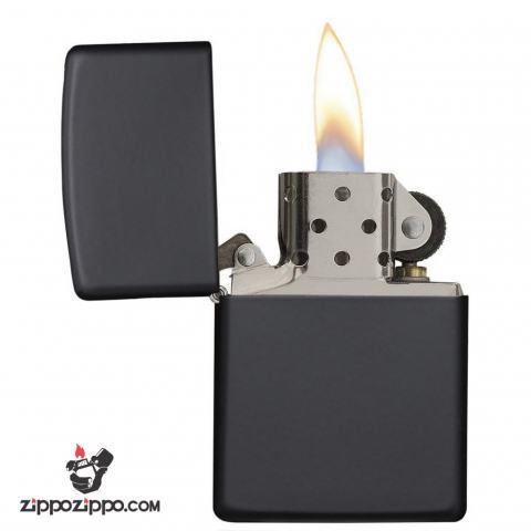 Bật lửa zippo chính hãng đen sơn mài
