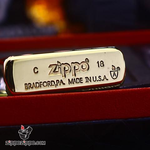 Bật lửa Zippo chính hãng đồng bóng khắc Crusades Armor