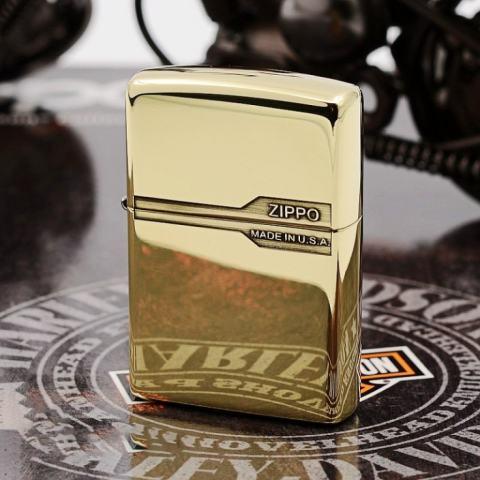 Bật lửa Zippo chính hãng đồng bóng  nhẹ thiết kế cổ điển