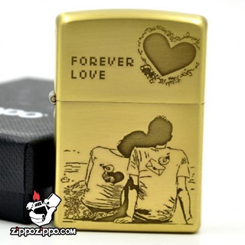 Bật lửa Zippo chính hãng đồng Love Forever