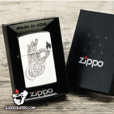 Bật lửa Zippo chính hãng hoa cách điệu hình bàn tay