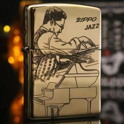 Bật lửa Zippo chính hãng Jazz đồng bản bóng - Mã SP: ZPC2252