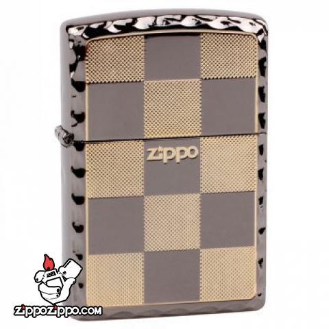 Bật lửa Zippo chính hãng kẻ caro ô vuông