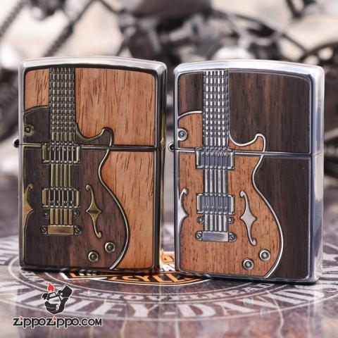 Bật Lửa Zippo Chính Hãng Khắc Họa Tiết Đàn guitar