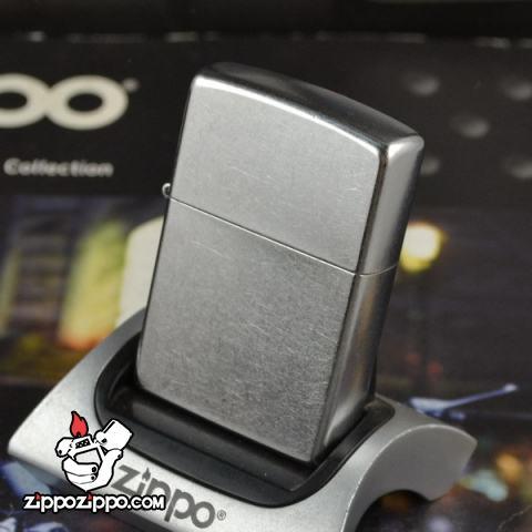 Bật lửa Zippo chính hãng kiểu dáng bạc xước cổ điển 207