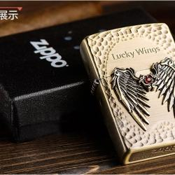 Bật lửa zippo chính hãng Lucky Wings Phiên bản limited hàn quốc  cánh thiên thần may mắn - Mã SP: ZPC0161