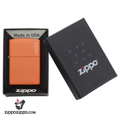 Bật Lửa Zippo Chính Hãng Màu Cam nhẹ nhàng