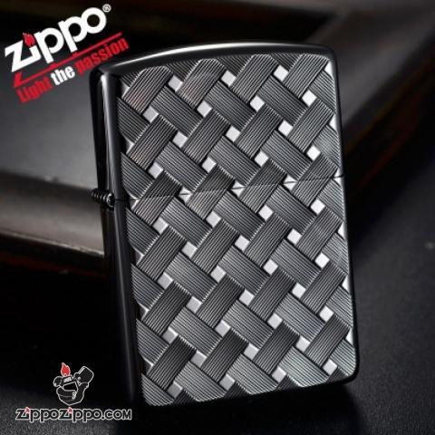 Bật lửa Zippo Chính Hãng Màu Đen phiên bản MESH WIRE