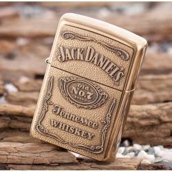 Bật lửa Zippo chính hãng mẫu đồng thương hiệu rượu vang Jack Daniel's - Mã SP: ZPC0039