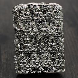 Bật lửa Zippo Chĩnh hãng nguyên khối bạc khắc hình đức phật cổ - Mã SP: ZPC0257