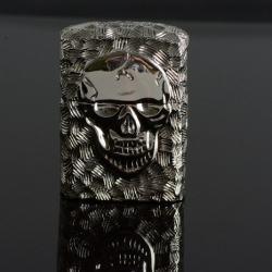 Bật lửa Zippo chính hãng nguyên khối đúc hình đầu lâu mặt kia xương tréo - Mã SP: ZPC0085