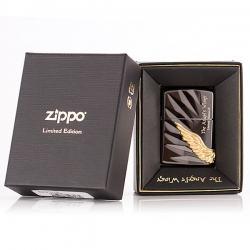 Bật lửa Zippo chính hãng phiên bản giới hạn màu đen Cánh thiên thần - Mã SP: ZPC0223